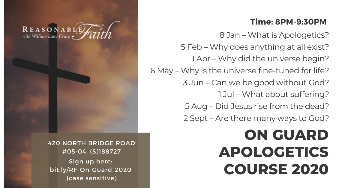 Singapore Apologetics Course 2020 Flyer